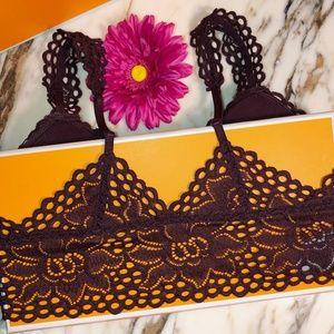 aerie Intimates & Sleepwear - Aerie Maroon Lace Bralette NWT